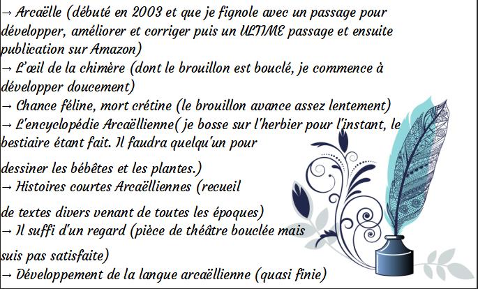 """Page FB """"Arcaëlle et autres - A.L Legrand"""" Projet10"""