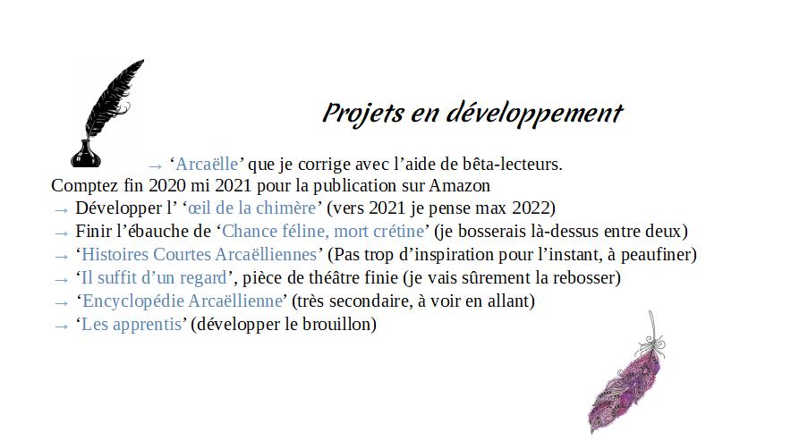 """Page FB """"Arcaëlle et autres - A.L Legrand"""" Projet11"""