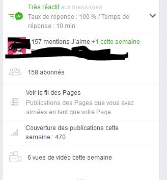 """Page FB """"Arcaëlle et autres - A.L Legrand"""" Stat12"""