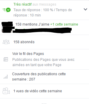 """Page FB """"Arcaëlle et autres - A.L Legrand"""" Stat13"""