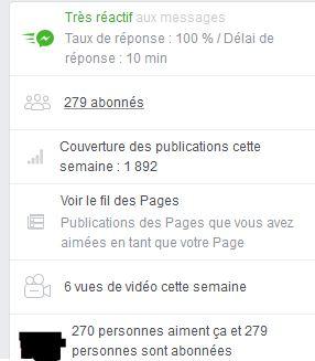 """Page FB """"Arcaëlle et autres - A.L Legrand"""" Stat14"""