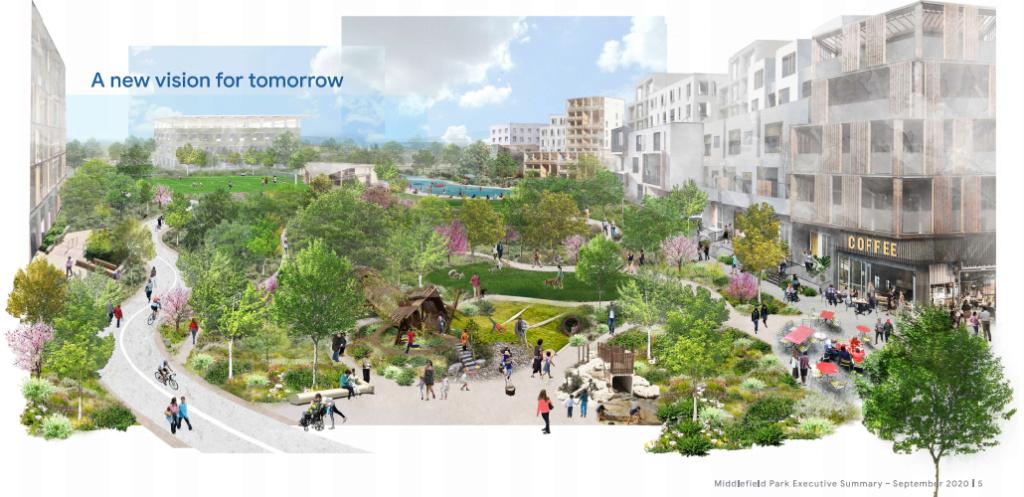 Middlefield Park - город для сотрудников. Google. США _u42