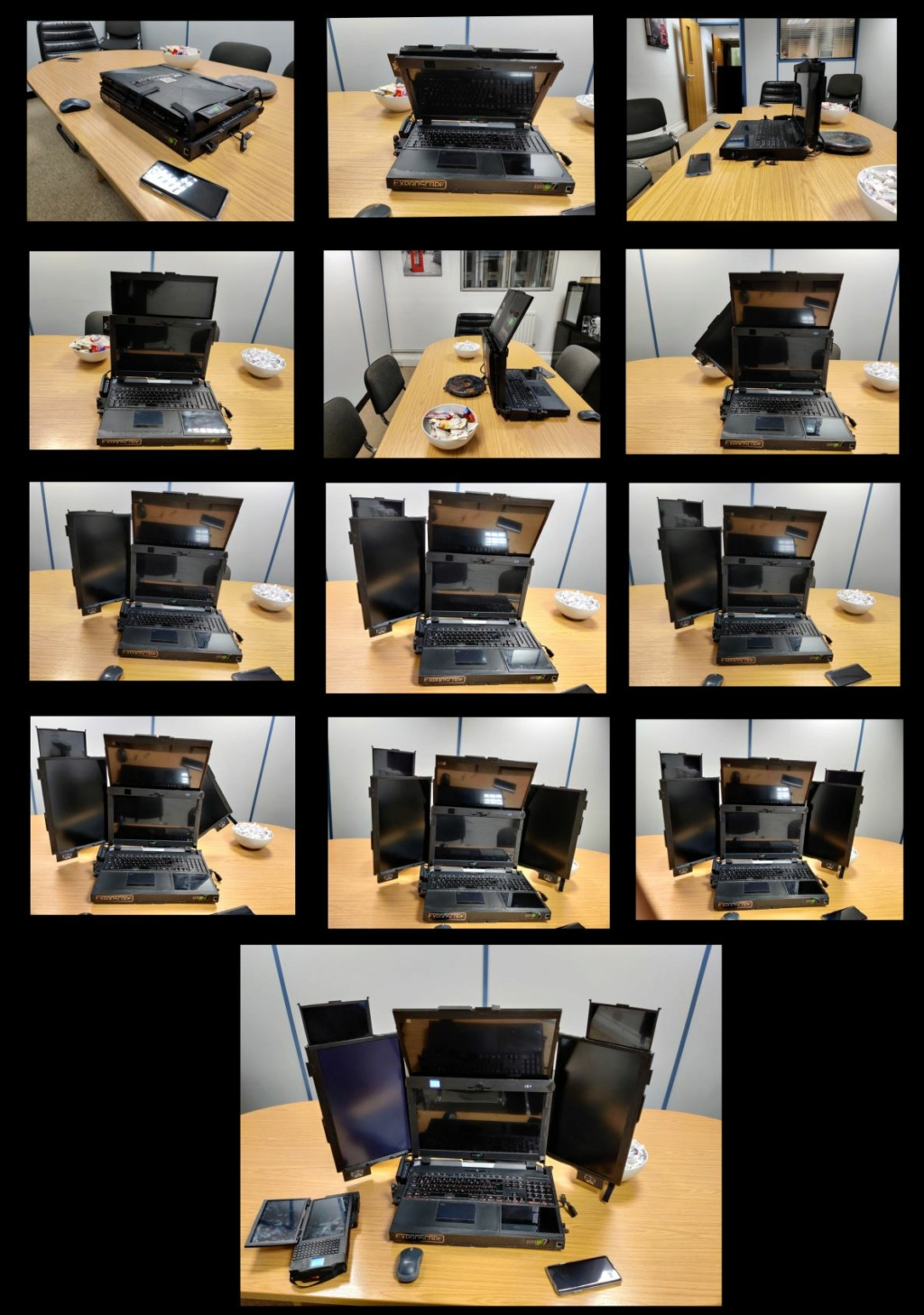 Ноутбук Aurora с 7 дисплеями. Expanscape. Великобритания Aurora10