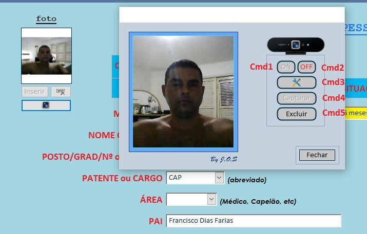 ajuda para dimensionar corretamente foto capturada da webcam B10