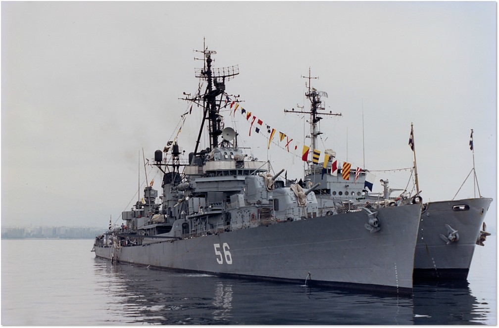 Fletcher class ΛΟΓΧΗ 56 (LONHEE) (LANCE) Marine Greque Scratch 1/250 56logx10