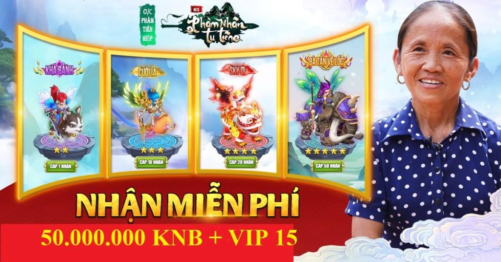 (h5tutien.com) 8h 08/2 Khai mở s4 Phàm Nhân Tu Tiên H5 - Free VIP 15 + 50.00.000 KNB - Phát GiffCode Sharef11