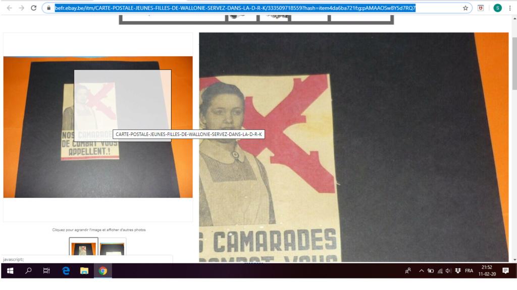 Cartes postales Légion Wallonie Drk10