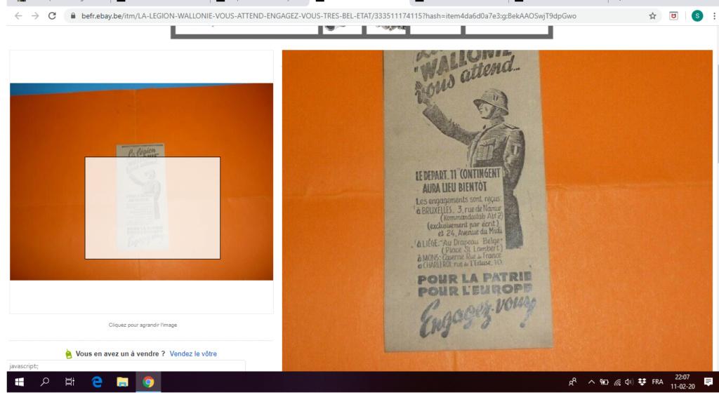 Cartes postales Légion Wallonie Vignet10