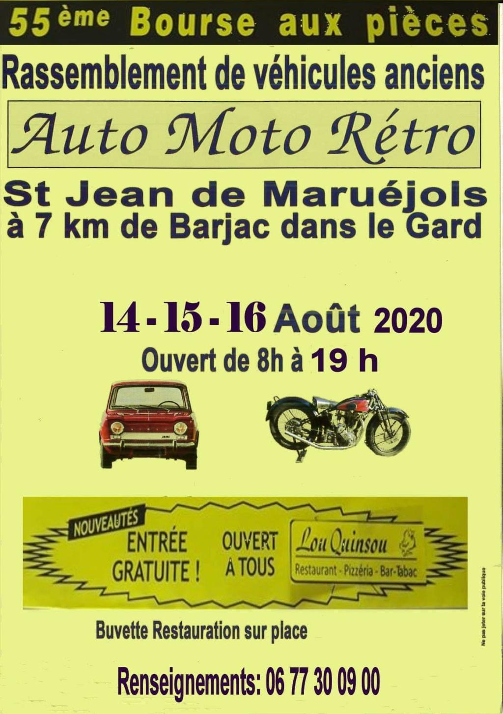 Auto Moto rétro St jean de Maruejols les 14 15 et 16 aout 2020 Bourse10