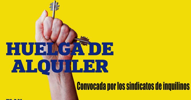 Huelga General de alquileres en España a partir del 1 de abril Huelga10
