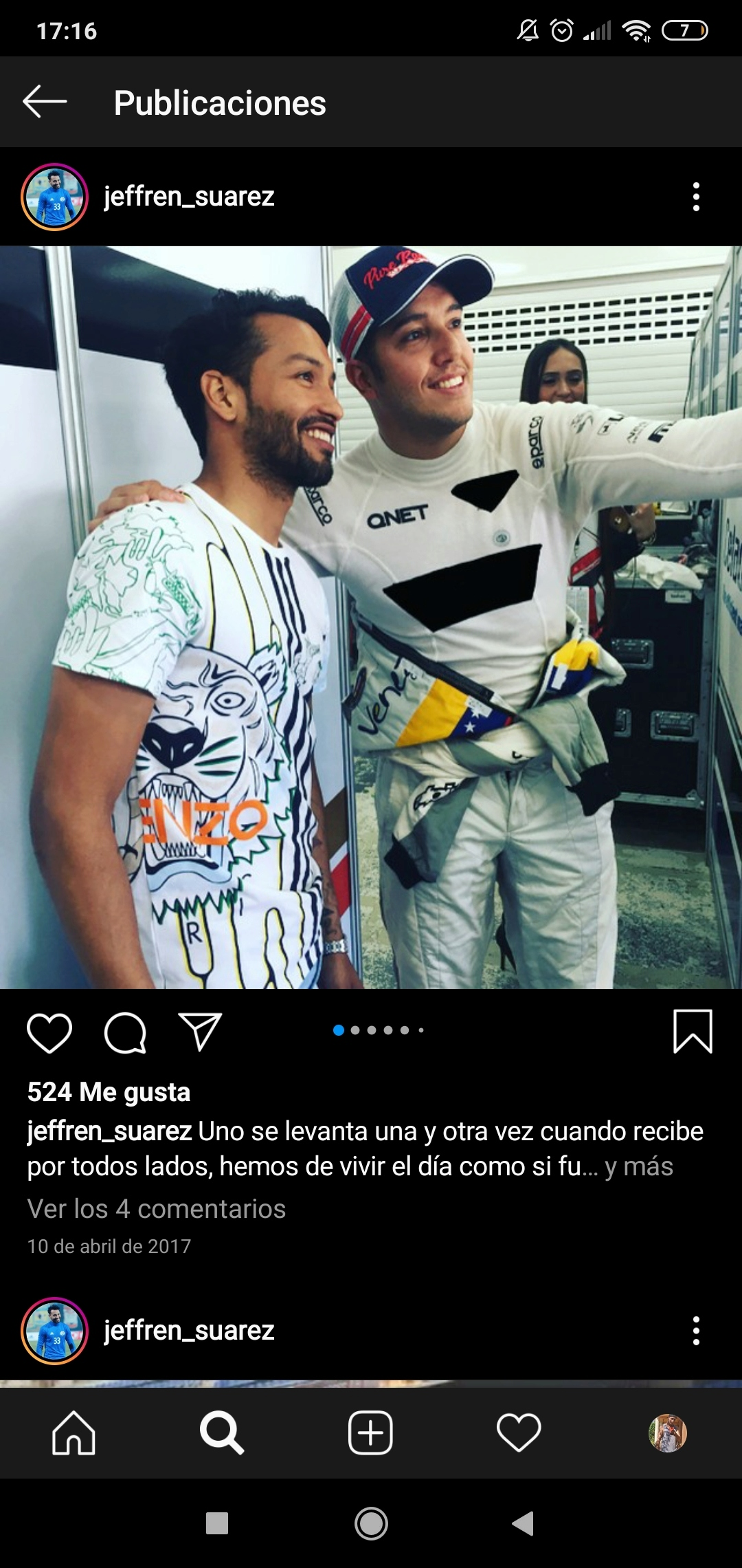 ¿Cuánto mide Jeffrén Suárez? Screen81
