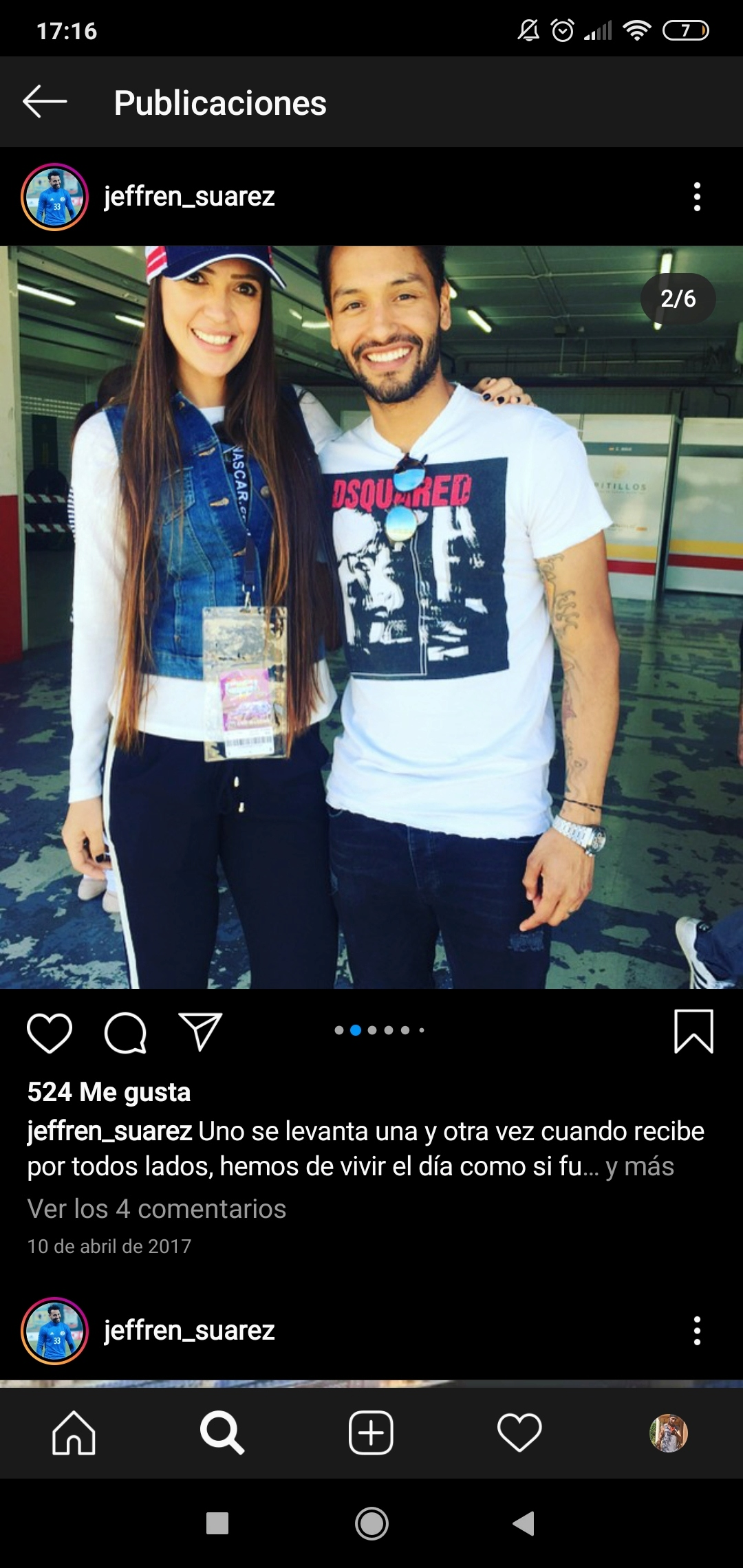 ¿Cuánto mide Jeffrén Suárez? Screen82