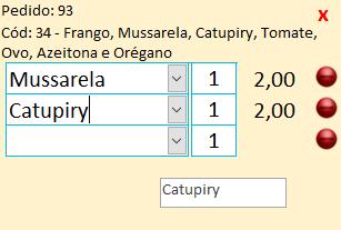 Caixa de Texto recebe todos os produtos selecionados em uma Caixa de Combinação Captur13