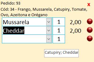 Caixa de Texto recebe todos os produtos selecionados em uma Caixa de Combinação Captur14