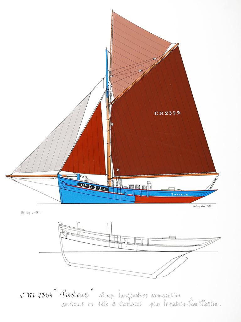Cotre langoustier (Plan Musée Concarneau 1/25°)  par Yoann gui - Page 3 Pasteu10