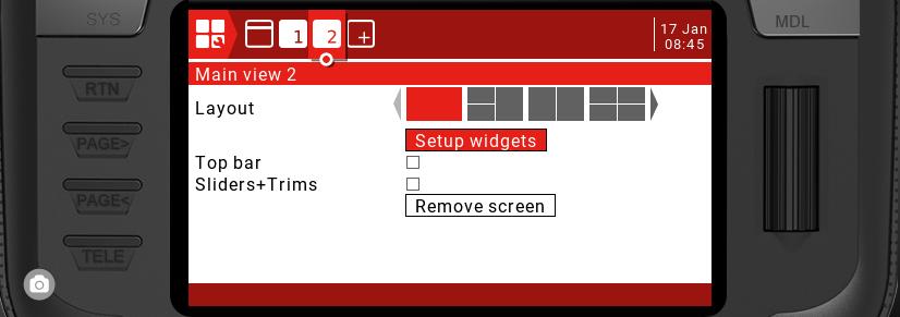 Script LUA pour Radio écran couleur X12-X10-TX16S Captur18