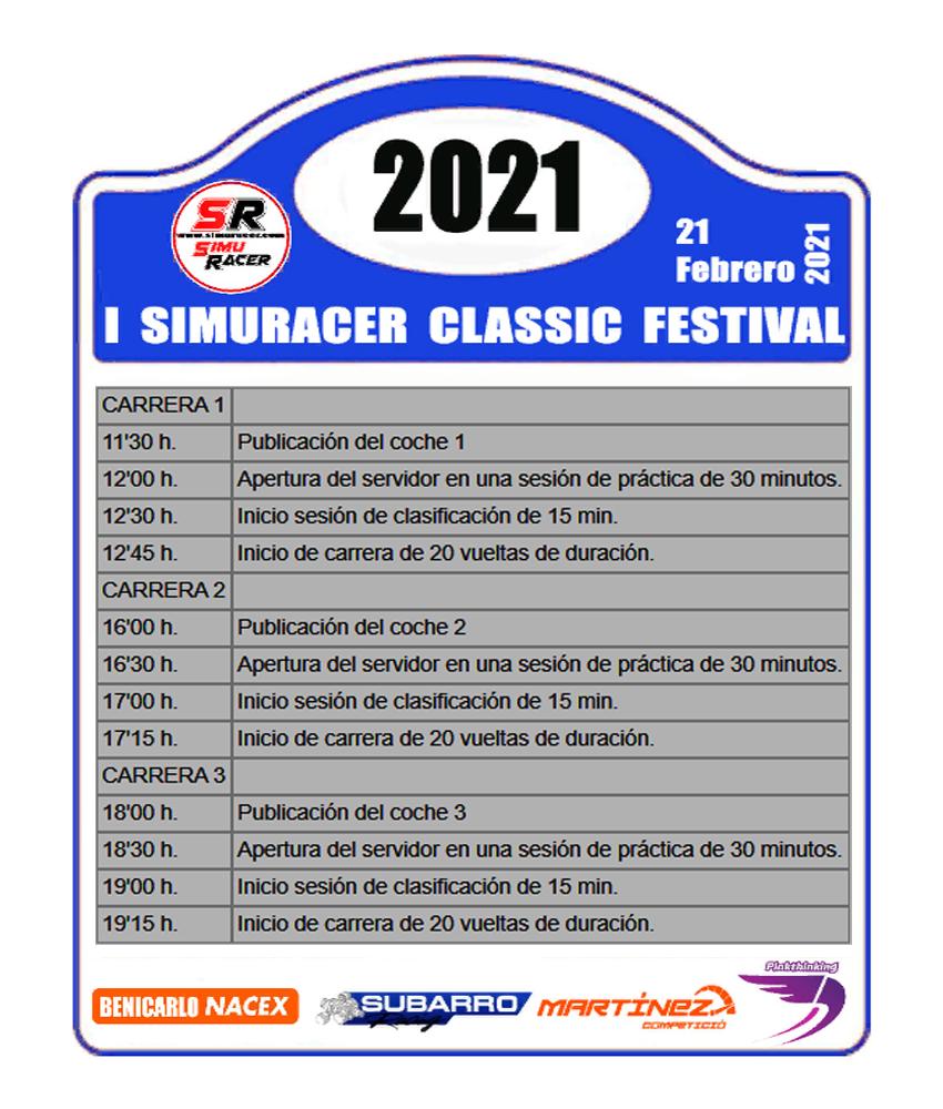 PRESENTACION I SIMURACER CLASSIC FESTIVAL Horari10
