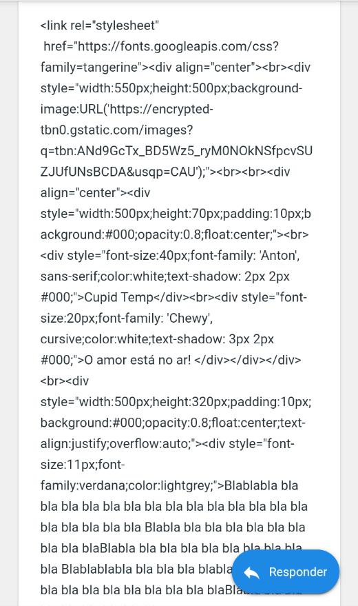 Ativação do HTML nos tópicos Screen10