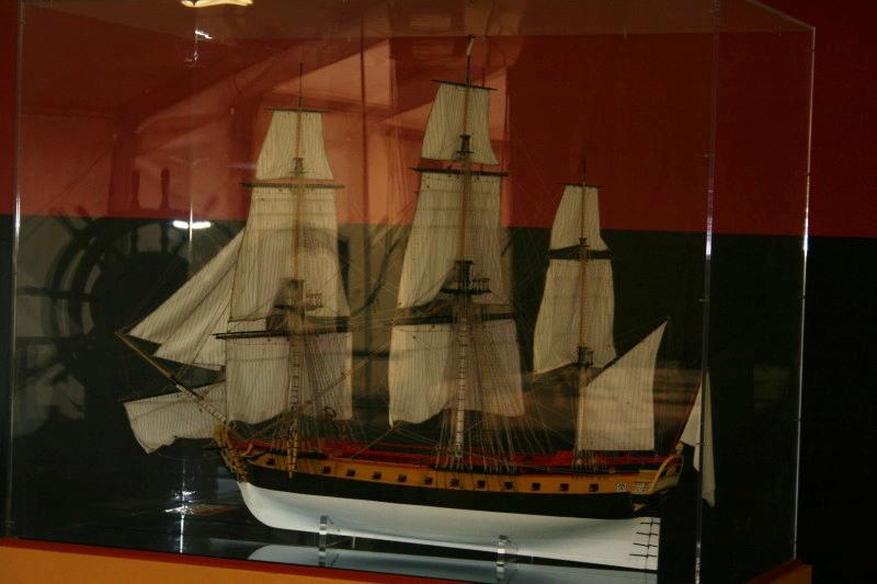 Reconstruction du navire de La Fayette . Altafu22