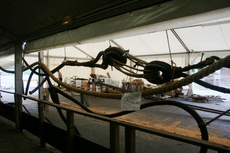 Reconstruction du navire de La Fayette . Altafu26
