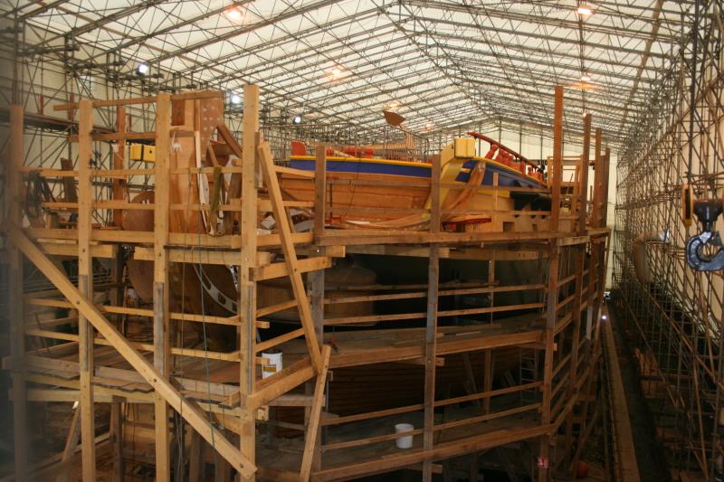 Reconstruction du navire de La Fayette . Altafu28