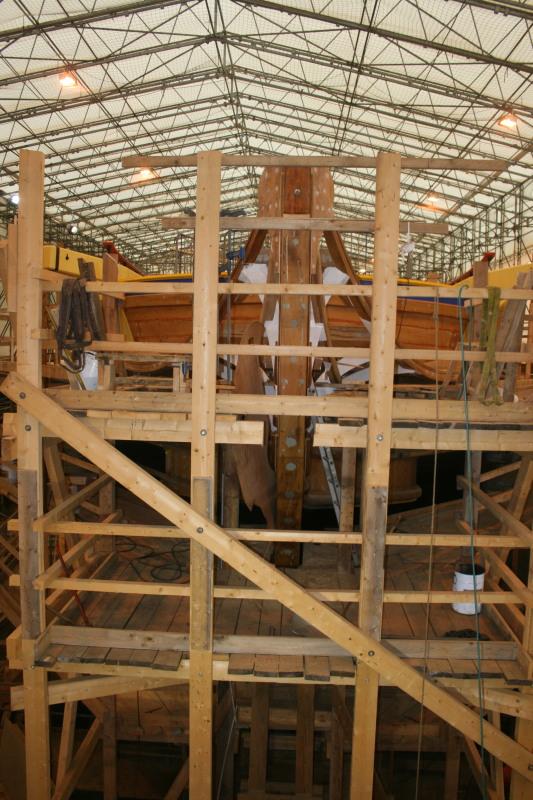 Reconstruction du navire de La Fayette . Altafu29