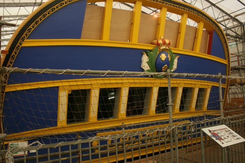 Reconstruction du navire de La Fayette . Altafu34
