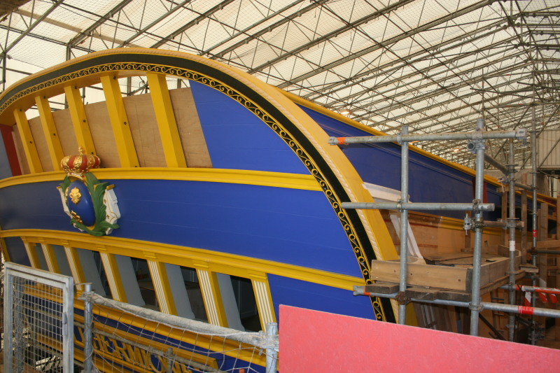 Reconstruction du navire de La Fayette . Altafu41