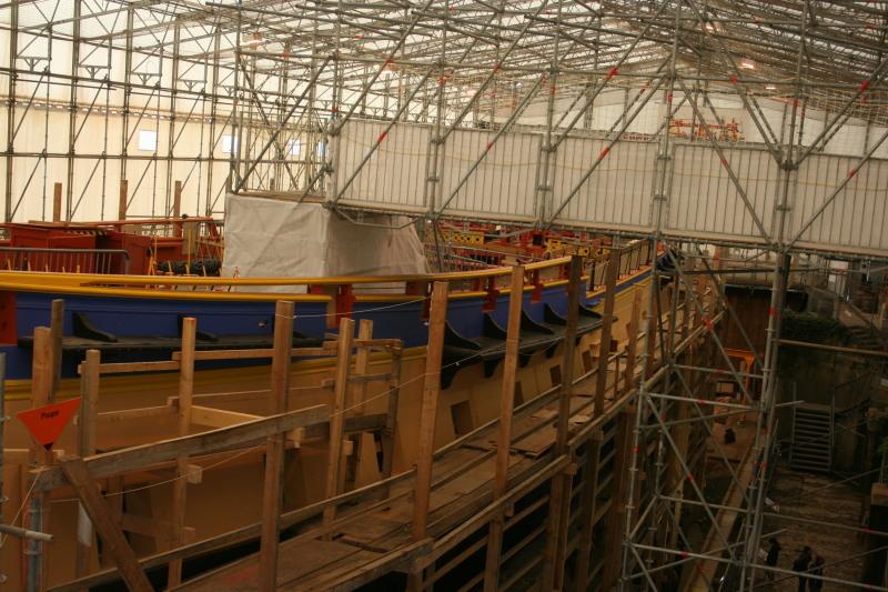 Reconstruction du navire de La Fayette . Altafu42