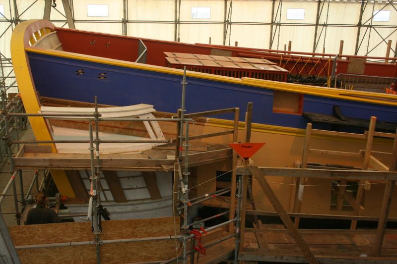 Reconstruction du navire de La Fayette . Altafu43