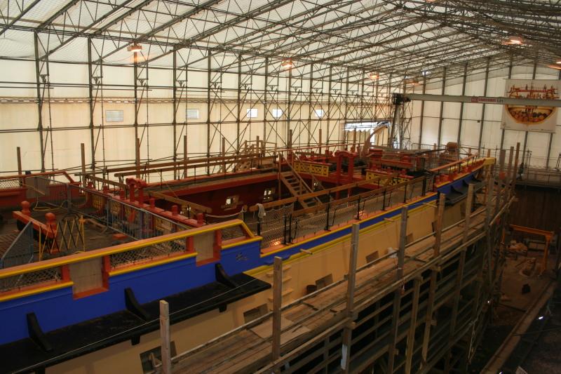 Reconstruction du navire de La Fayette . Altafu44