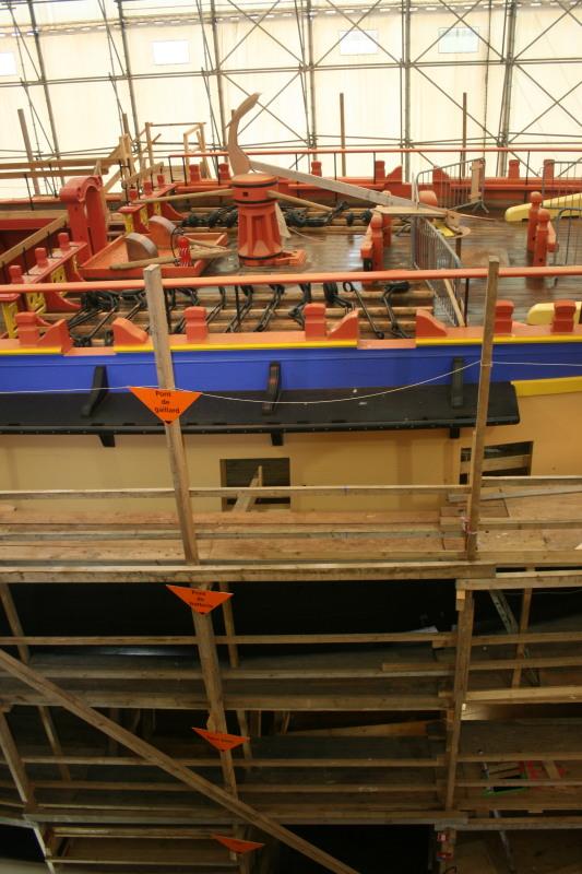 Reconstruction du navire de La Fayette . Altafu46