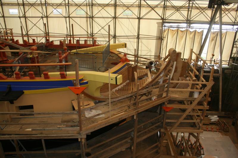Reconstruction du navire de La Fayette . Altafu47