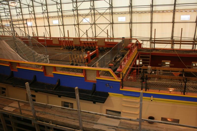 Reconstruction du navire de La Fayette . Altafu48