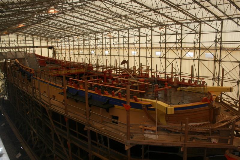 Reconstruction du navire de La Fayette . Altafu49