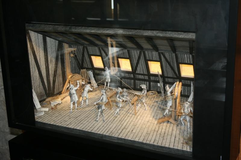 Reconstruction du navire de La Fayette . La_roc21