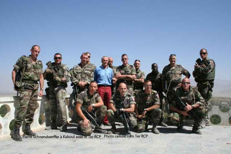 Pierre Schoendoerffer à Kaboul avec le 1er RCP 2012_069