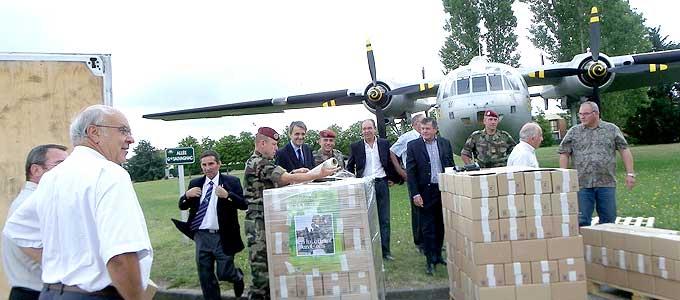 Opération solidarité avec les soldats du 1er RCP de Pamiers basés en Afghanistan. Colis_10