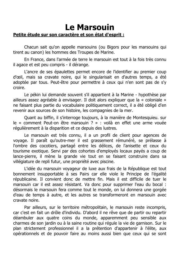 """LE """"MARSOUIN"""": petite étude sur carractère et son état d'esprit Le_mar10"""