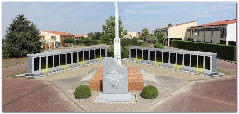 MÉMORIAL DU 1er R. C. P. à Pamiers (Quartier capitaine Beaumont.) Memori11