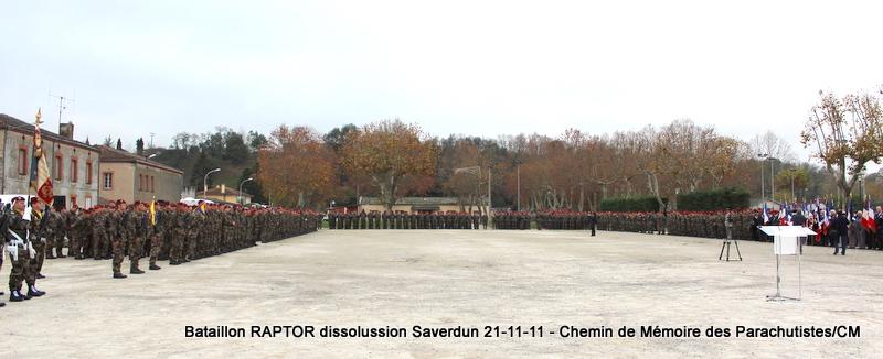 11e Brigade Parachutiste: Dissolussion du Battle Group RAPTOR à Saverdun Pamier11