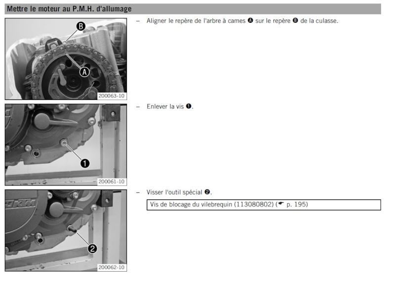 Comment vérifier la tension de la chaine de distribution (450 exc-r 2008) Presse18