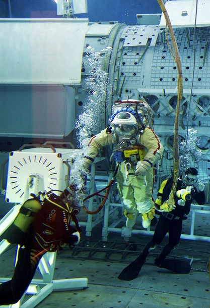 Thomas Pesquet dans l'Hydrolab A11