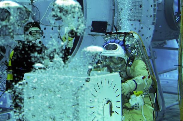 Thomas Pesquet dans l'Hydrolab Z11