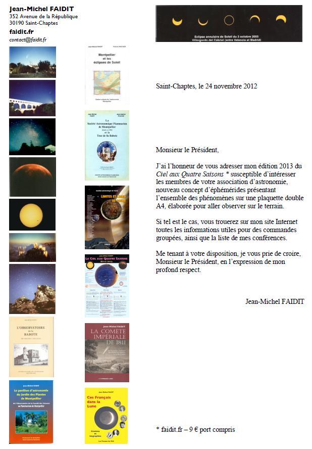 Infos astro commerciales  Faidit10