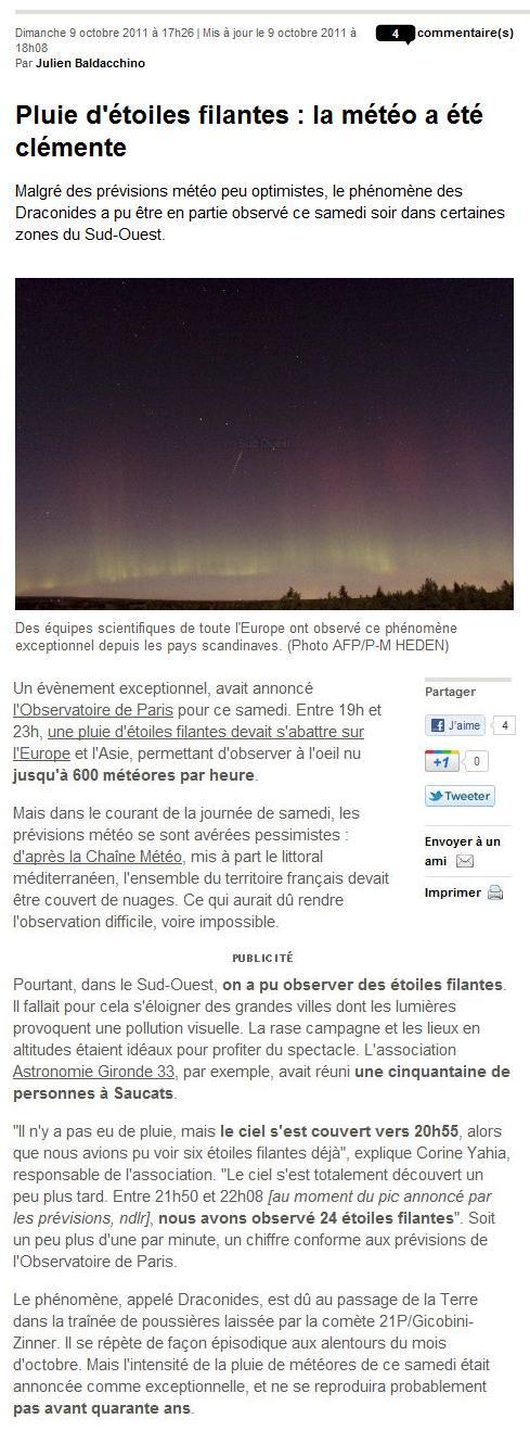 Observation samedi 8 octobre 2011 - spéciale Draconides So110