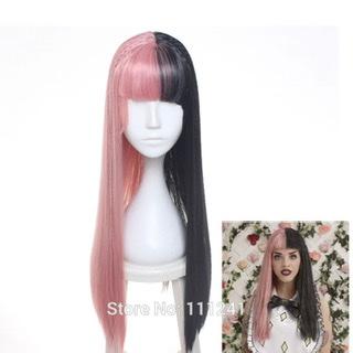 [Cherche] Wig bicolore noir/rose taille MNF à franges 5c413310