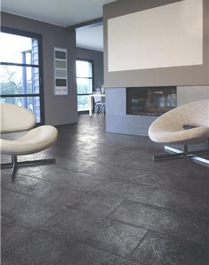 sol gris fonc ou gris clair meuble bois clair
