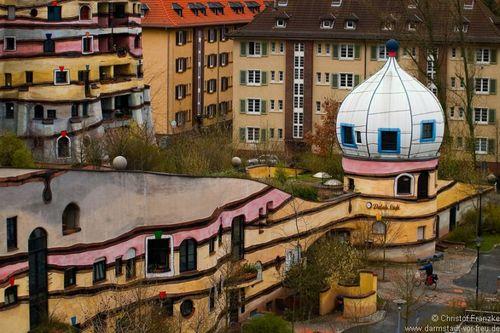 La forêt en spirale (ou Waldspirale) à Darmstadt - Allemagne Foret_10