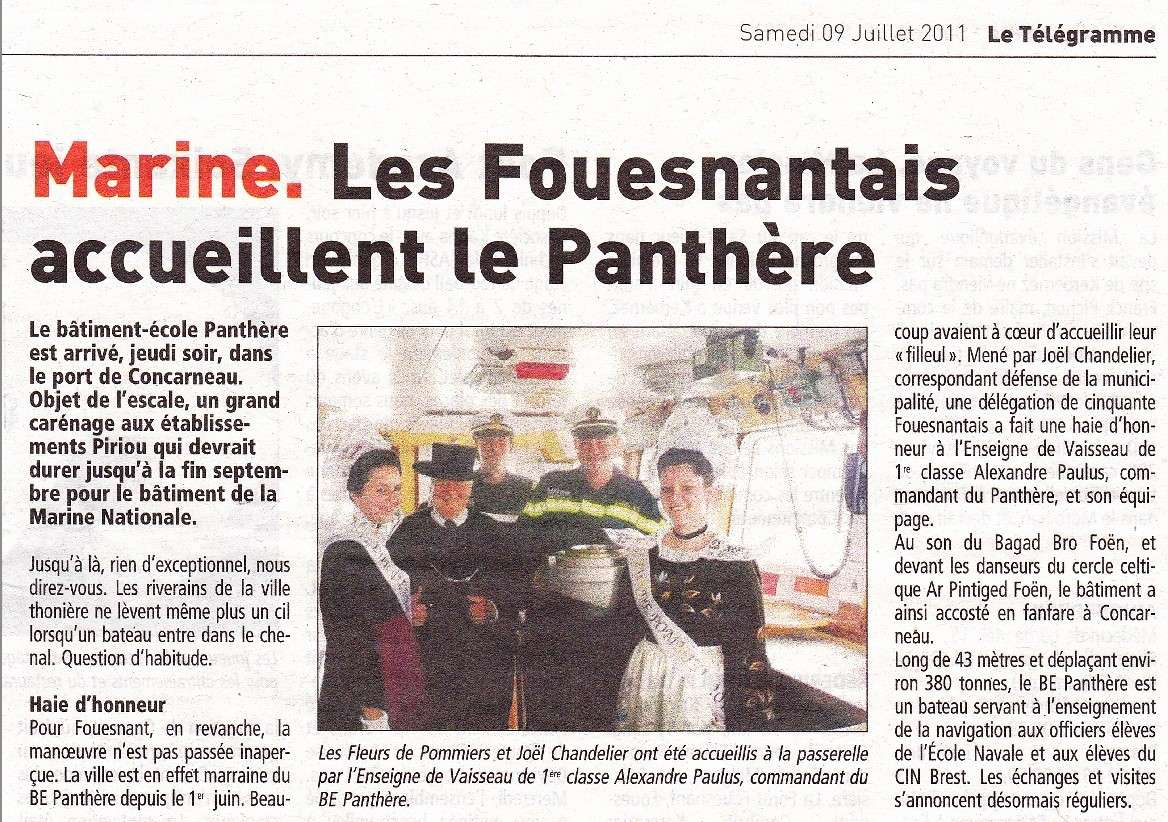 BE PANTHERE et sa ville marraine : FOUESNANT Articl11